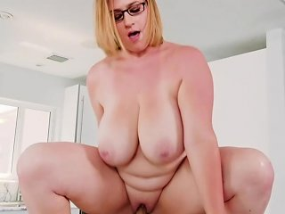 Seth Gamble Went To The Kitchen Where Mya Blair Seduced Him And Fucked Her