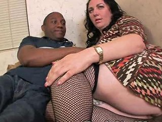 Chubby Milf Orgasms On Black Cock By Getting Fucked Hard